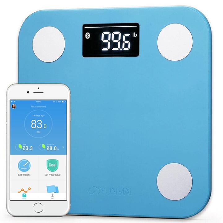 ... YUNMAI Mini Smart Scale Blue (M1501-BL) совмещается и с некоторыми  другими приложениями, например, Fitbit, Apple Здоровье или же Google fit. fbc6832f35a