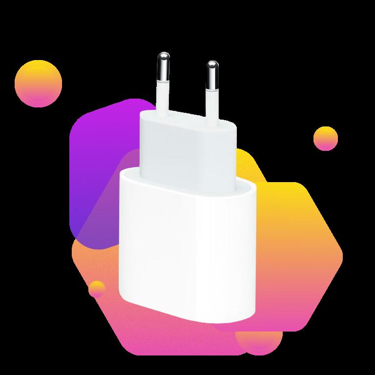 Фото 2 Apple 20W USB-C Power Adapter (MHJE3ZM/A) White
