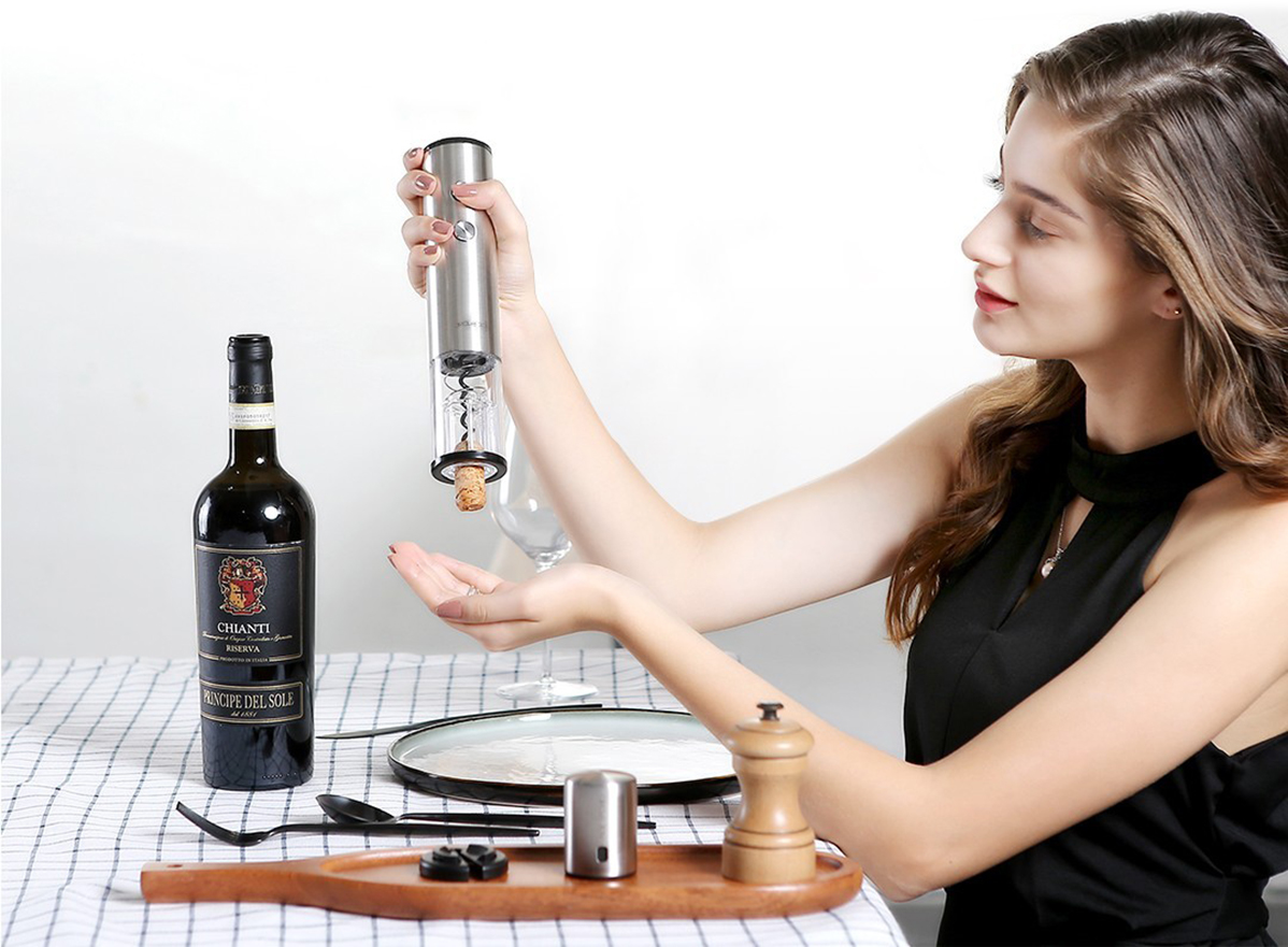 Фото 3 Умный штопор Electric Wine Bottle Opener Circle Joy