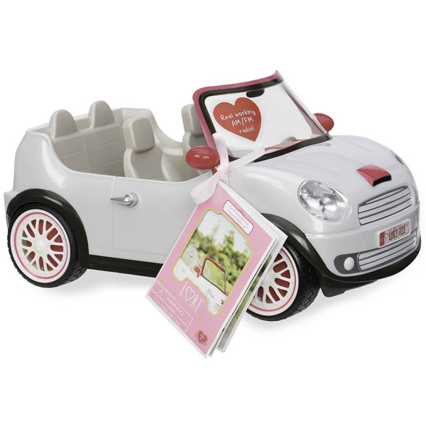 Купить Куклы, наборы для кукол, Транспорт для кукол LORI Машина белая (LO37002Z)
