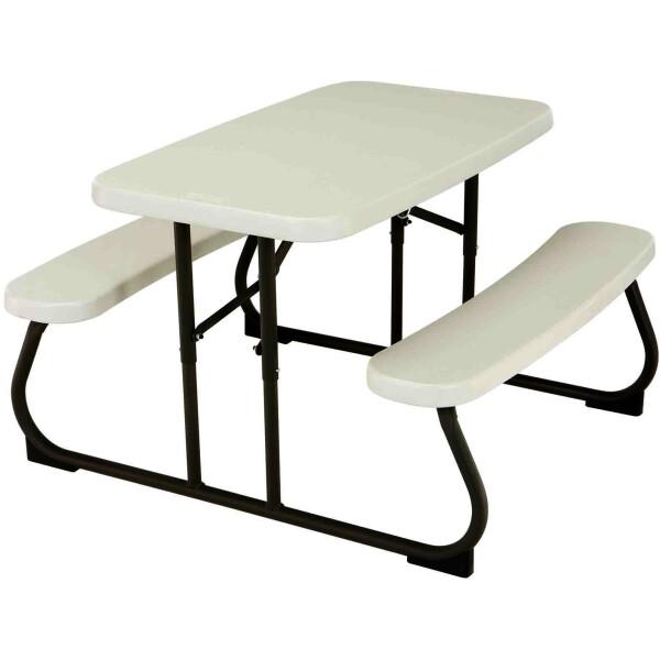 Купить Складная мебель, набор складной детской мебели LIFETIME 280094 Белый/Серый (стол+2 скамьи) (1024890)
