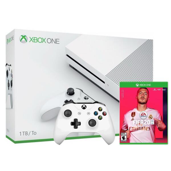 Купить Игровые консоли, Microsoft Xbox One S 1Tb + FIFA 20 + дополнительный джойстик