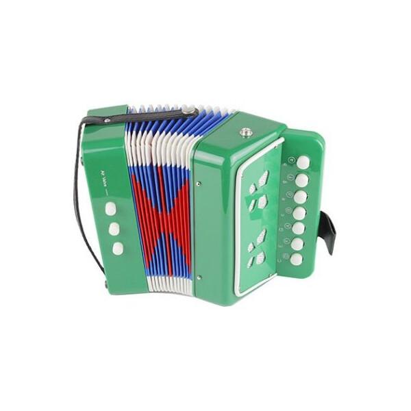 Купить Детские музыкальные инструменты, Детский музыкальный инструмент BabyYes Гармошка Зеленый (6429)