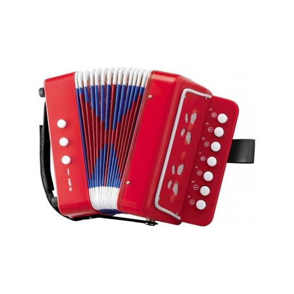 Купить Детские музыкальные инструменты, Детский музыкальный инструмент Bambi Гармошка Красный (6429)