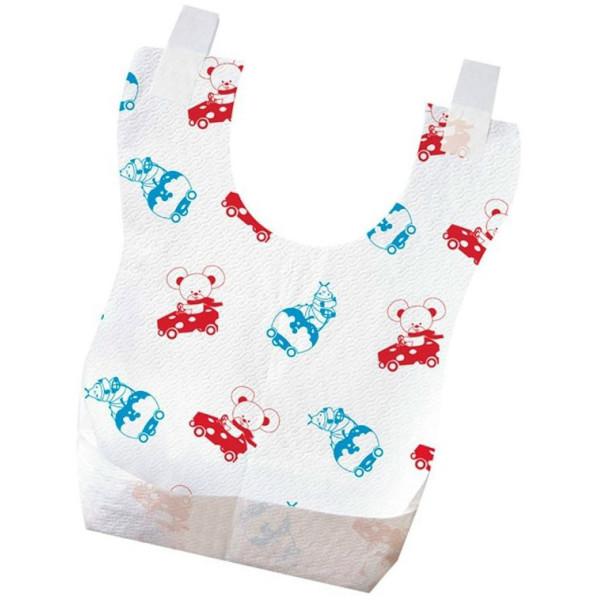 Посуда для детей, Слюнявчик Chicco Слюнявчик одноразовый, 40 шт., (6 м+) (67440.01)  - купить со скидкой