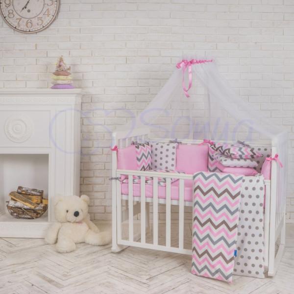 детский Маленькая Соня Набор Baby Design Premium indigo (розовый) 6 эл. 73ca5b9097bf5