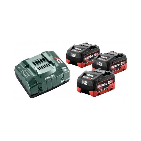 Купить Аккумуляторы для инструмента, Комплект аккумуляторных батарей Metabo 3*5.5 Ач 18 В LiHD (685074000)
