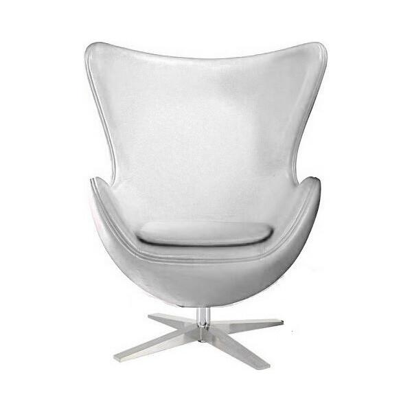 Купить Кресла, SDM Эгг (Egg) с наклонной спинкой поворотное кожзам Белое