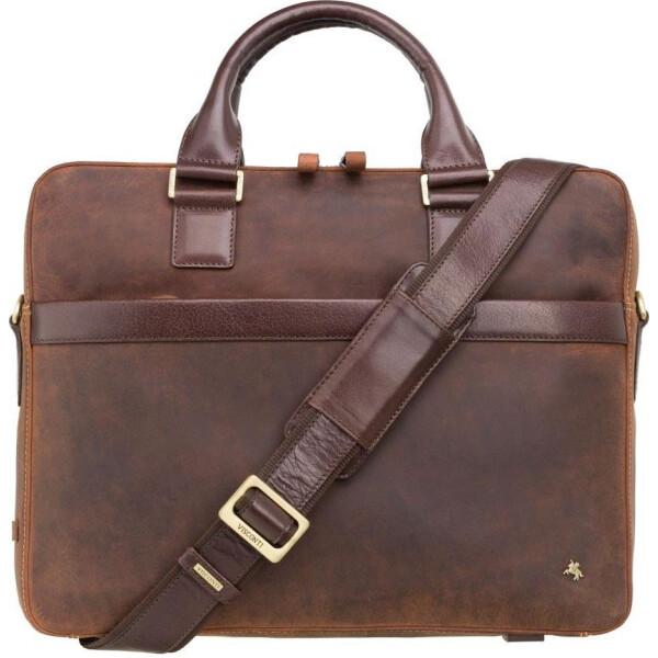 Купить Сумки для ноутбуков, мужская кожаная сумка Visconti TC88 Victor 13 (Havana Tan-mln)