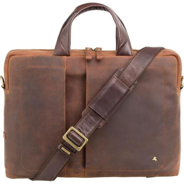 Купить Сумки для ноутбуков, мужская кожаная сумка Visconti TC78 Octo 15 (Havana Tan)