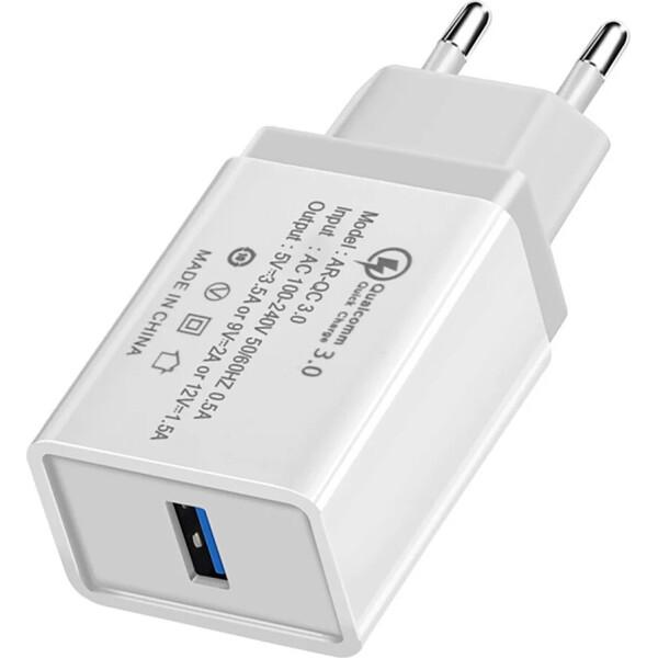 Купить Зарядные устройства для телефонов и планшетов, Сетевое зарядное утсройство Hoco QC-100 1 USB, 3.5A Grey