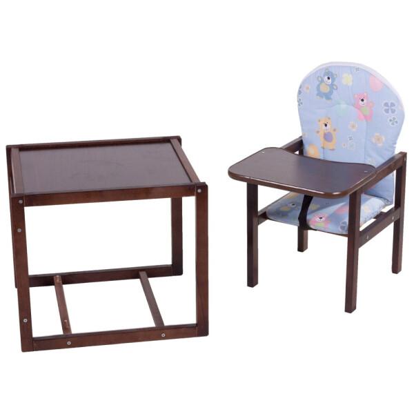 Купить Стульчики для кормления, Стульчик- трансформер Babyroom Карапуз-120 тонированный МДФ столешница бежевый (мишки, коричневые звезды)