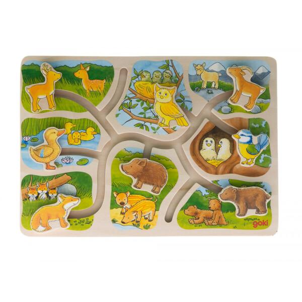 Купить Пазлы, Пазл-головоломка goki Животные (57749)