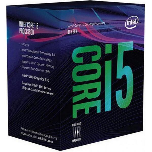 Купить Процессоры, Процессор Intel Core i5 8400 2.8GHz (8MB, Coffee Lake, 65W, S1151) Box (BX80684I58400) для ПК