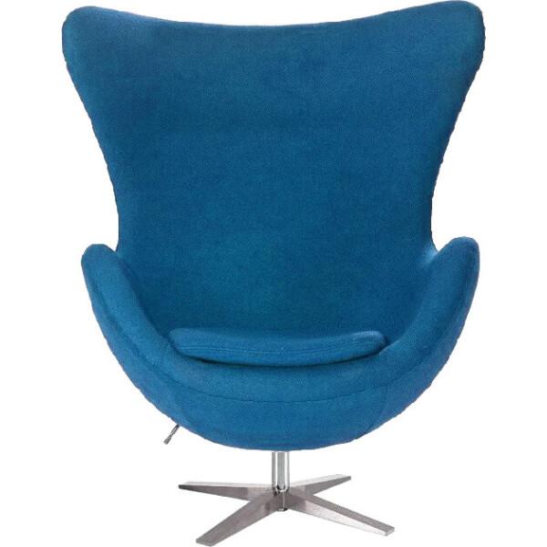 Купить Кресла, SDM Эгг (Egg) с наклонной спинкой поворотное ткань Синий