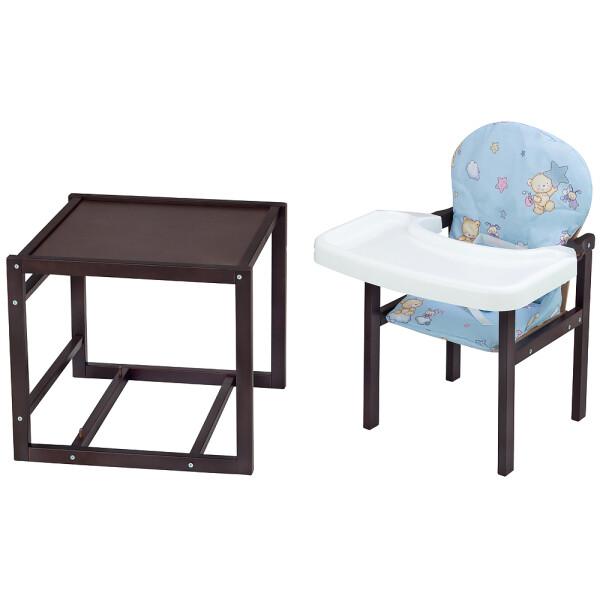 Купить Стульчики для кормления, Стульчик-трансформер Babyroom Пони-220 тонированный пластиковая столешница голубой (мишка, пчелка, звезда)