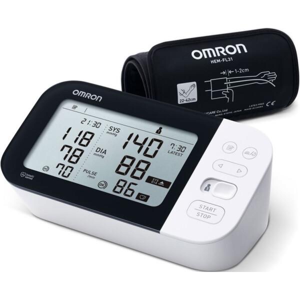 Купить Тонометры, Автоматический тонометр с адаптером OMRON M7 INTELLI IT (HEM-736 IT-EBK)