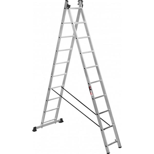 Купить Лестницы и стремянки, Лестница Stark Алюминиевая двухсекционная лестница 2*10 SVHR2x10 (525210405)