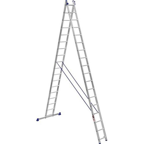 Купить Лестницы и стремянки, Лестница Stark Алюминиевая двухсекционная усиленная лестница 2*17 SVHR2x1 (525217412)