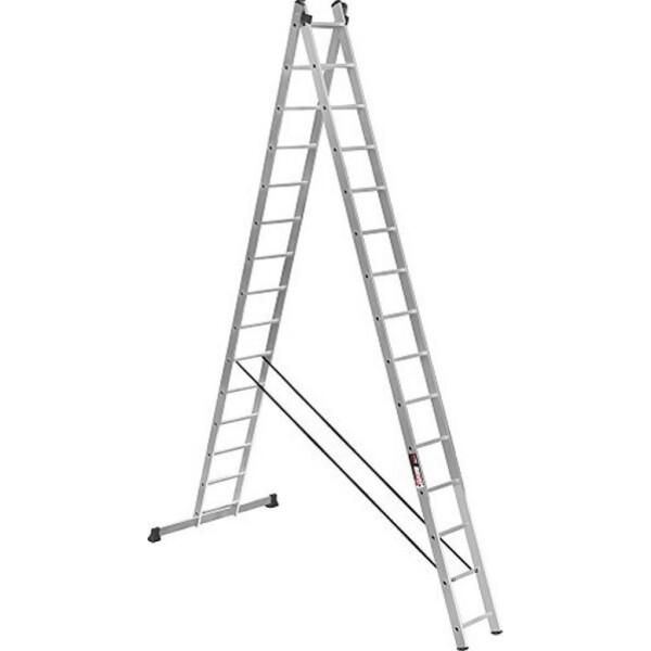 Купить Лестницы и стремянки, Лестница Stark Алюминиевая двухсекционная усиленная лестница 2*15 SVHR2x1 (525215410)