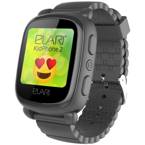 Купить Смарт-часы, Elari KidPhone 2 Black с GPS-трекером (KP-2B)