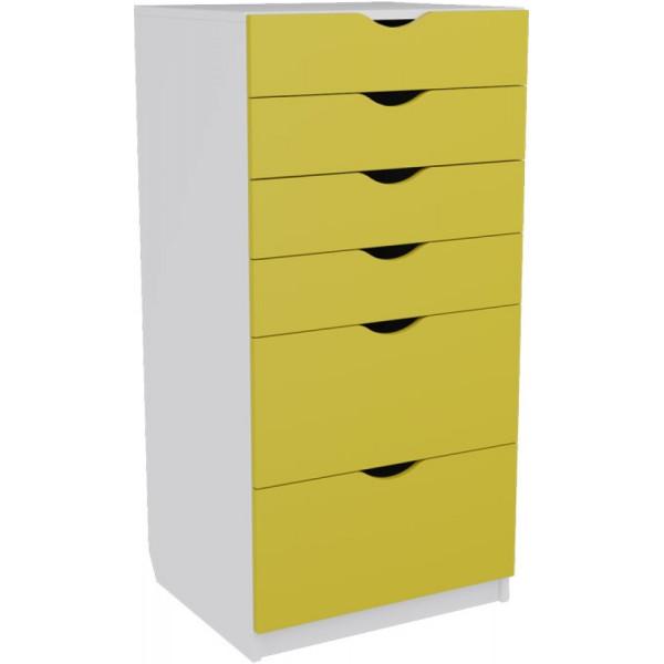 Купить Детские комоды, пеленаторы, Комод в детскую MebelLoft АРМАДИО КИД ЭКО желтый 1009Е