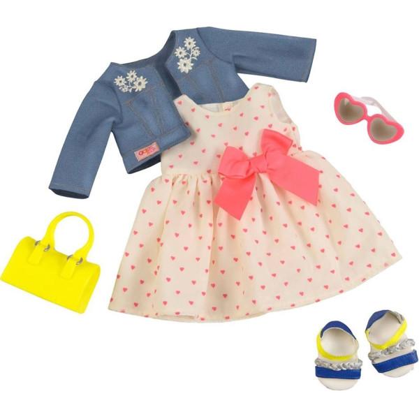 0fb14861086232 Набор одежды для кукол Our Generation Deluxe Платье с сердечками и жакетом  (BD30246Z)