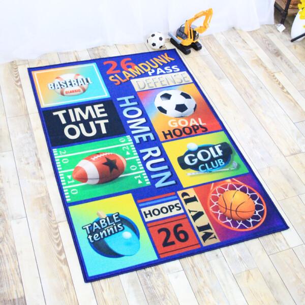 Купить Развивающие коврики, Коврик для детской комнаты Berni Игры 100 х 130 см Синий (49544)