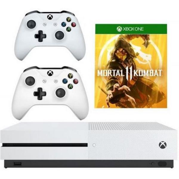 Купить Игровые консоли, Microsoft Xbox One S White 1 TB+ Microsoft Microsoft Xbox One S White Wireless Controller+ Mortal Kombat 11 Xbox One русская версия