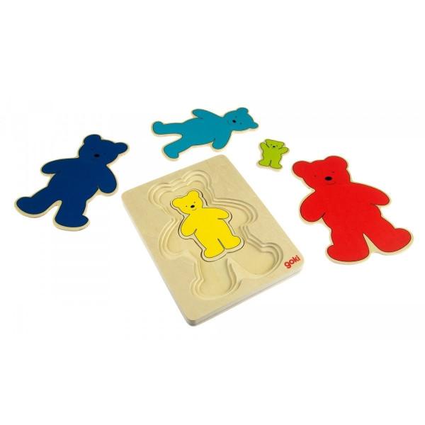 Купить Пазлы, Головоломка goki Разноцветные мишки (57884)