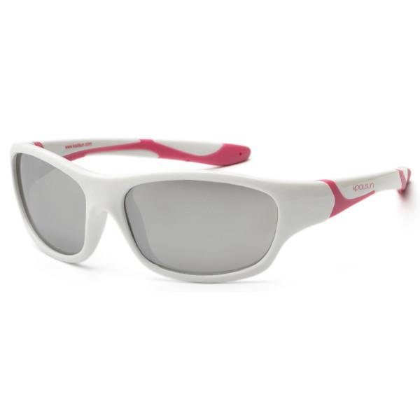 Детские солнцезащитные очки Koolsun Sport бело-розовые (Размер 6+) (KS- 1bd9d0f2a21ed