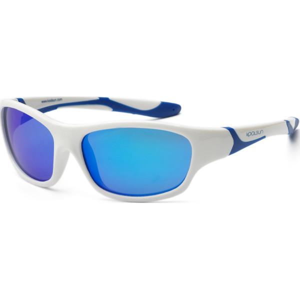 867ca6ebf3f2 Детские солнцезащитные очки Koolsun Sport бело-голубые (Размер 3+) (KS-