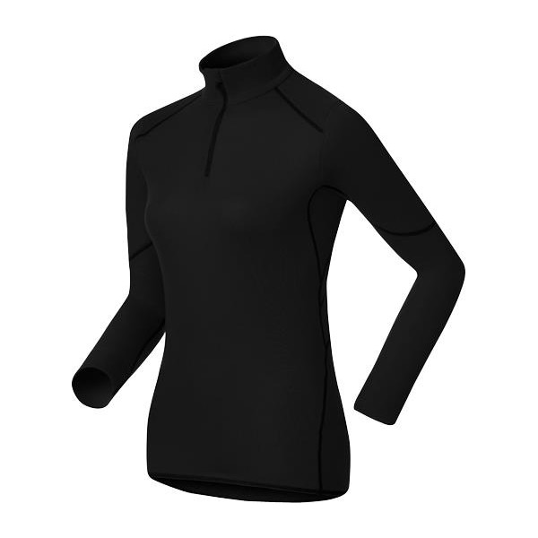 Термобелье ODLO Shirt l/s turtle neck 1/2 zip X-WARM black M