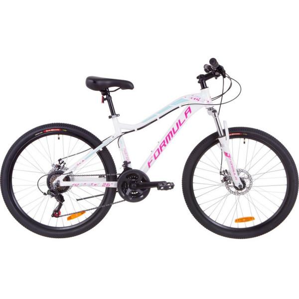 Велосипеды, 26 Formula MYSTIQUE 1.0 AM DD 16 бело-голубой с фиолетовым 2019 (OPS-FR-26-259)  - купить со скидкой