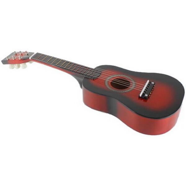 Купить Детские музыкальные инструменты, Гитара детская M 1369 Деревянная (Красный), Metr Plus