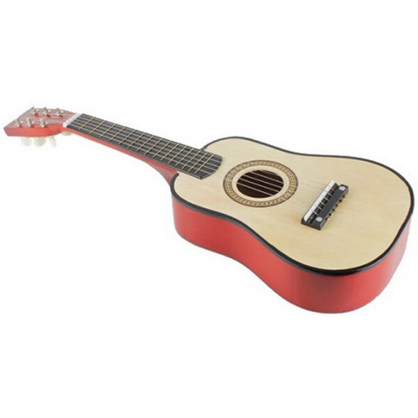 Купить Детские музыкальные инструменты, Гитара детская M 1369 Деревянная (Натуральный), Metr Plus