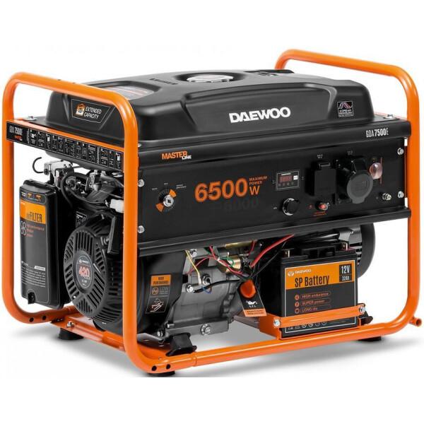 Генераторы, Генератор бензиновый Daewoo GDA 7500E  - купить со скидкой