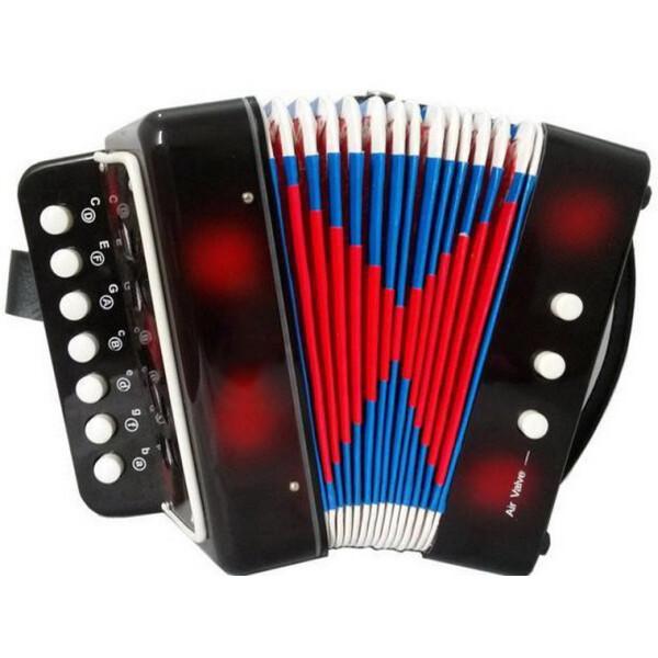 Купить Детские музыкальные инструменты, Детская гармошка 6429 (Черный), Metr+