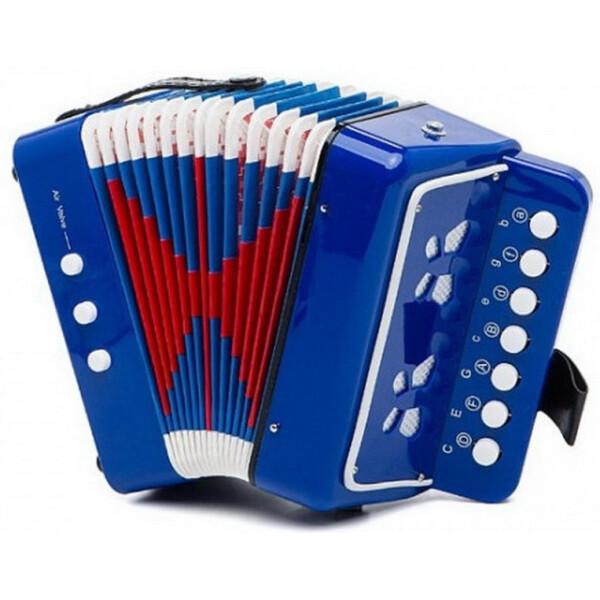 Купить Детские музыкальные инструменты, Детская гармошка 6429 (Синий), Metr+