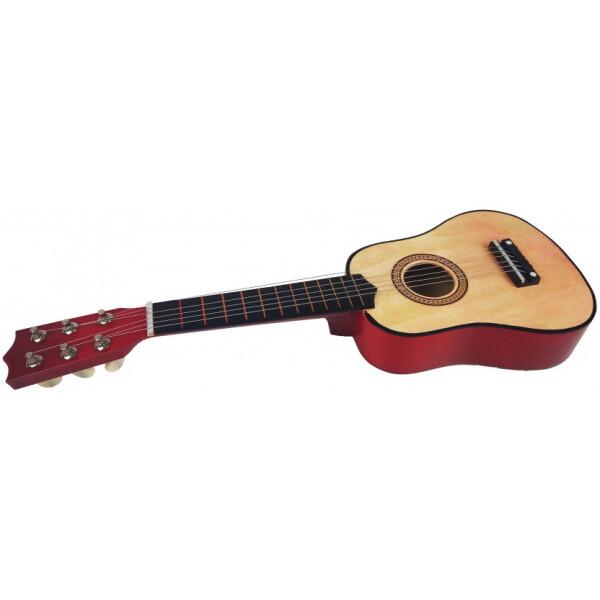 Купить Детские музыкальные инструменты, Гитара M 1370 Деревянная (Натуральный), Metr Plus