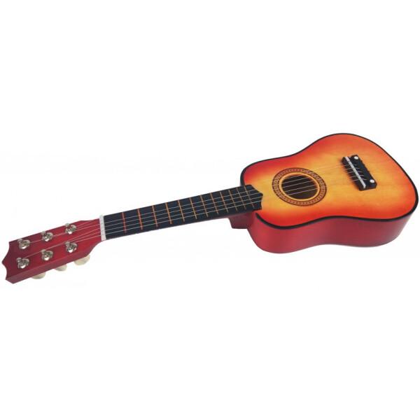 Купить Детские музыкальные инструменты, Гитара M 1370 Деревянная (Оранжевый), Metr Plus