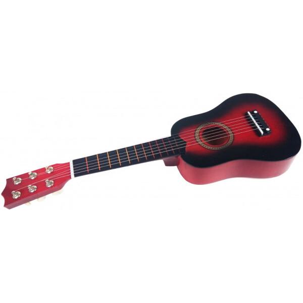Купить Детские музыкальные инструменты, Гитара M 1370 Деревянная (Красный), Metr Plus