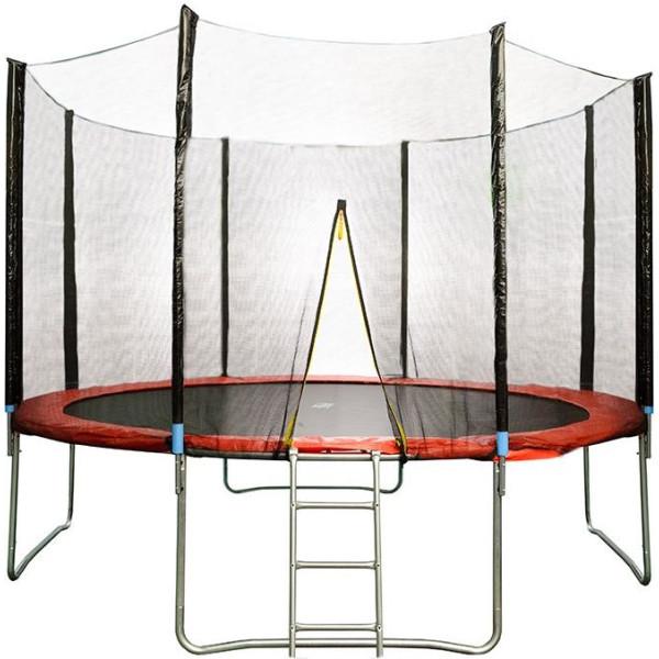 Купить Батуты, HSF 12FT d=3, 6м с сеткой и лестницей (K10757)