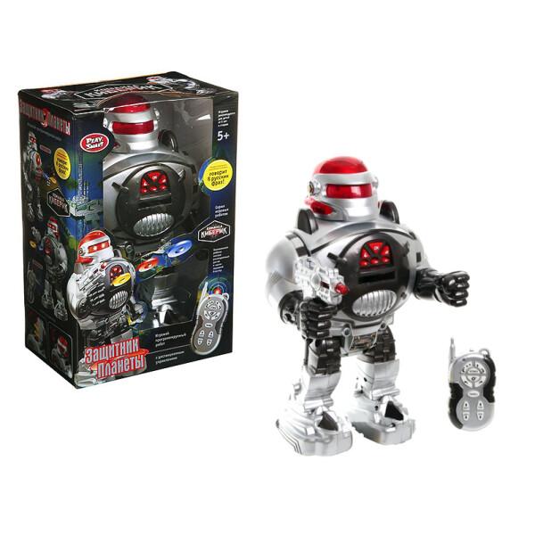 Купить Радиоуправляемые модели, Робот на радиоуправлении Play Smart Команда киберик Защитник планеты (9184)