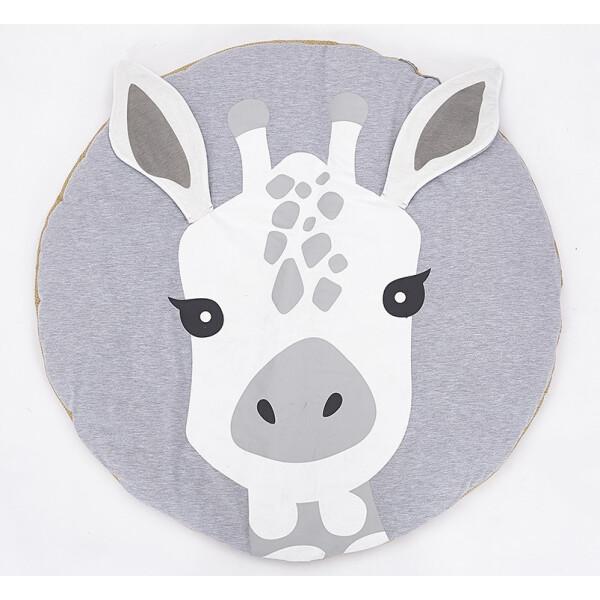 Купить Развивающие коврики, Игровой коврик для детской комнаты из хлопка Berni Жираф 90 x 90 см Серый (49370)