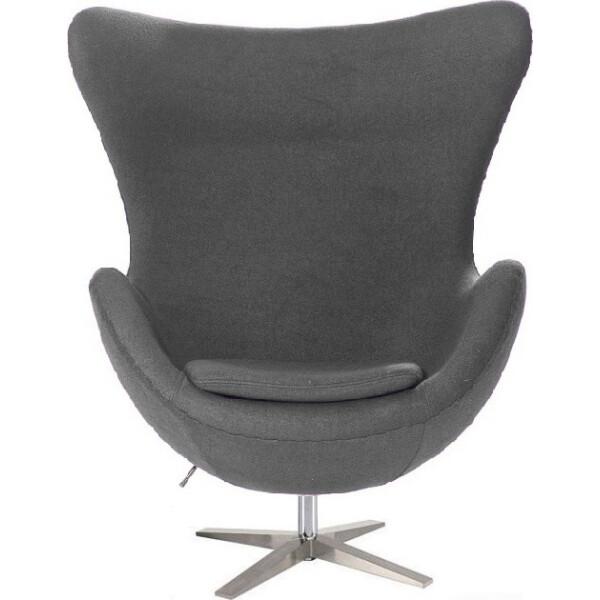 Купить Кресла, SDM Эгг (Egg) с наклонной спинкой поворотное ткань Серый