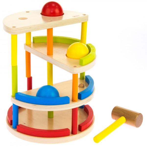 Купить Игрушки для самых маленьких, Головоломка goki Трекбол с молотком (53901)