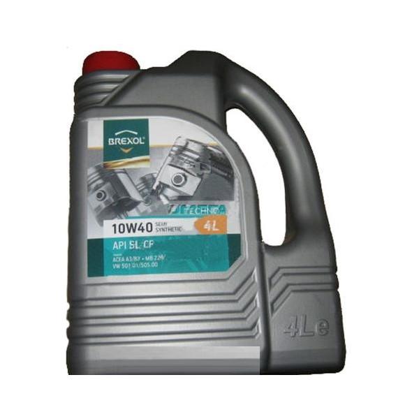 Моторные масла, BREXOL TECHNO 10W40 SL / CF (4л)  - купить со скидкой