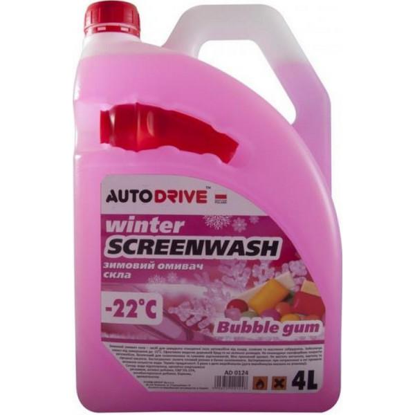 Купить Автокосметика, Омыватель стекла зимний -22 Autodrive Bubble Gum с лейкой 4л AD0124, Auto Drive