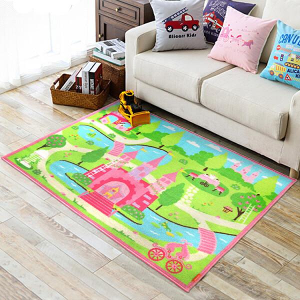 Купить Развивающие коврики, Коврик для детской комнаты Berni Замок принцессы 100 х 130 см Разноцветный (45983)